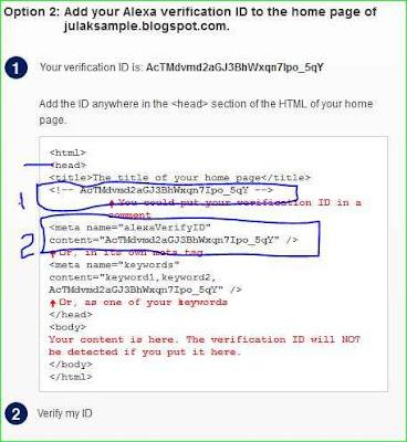 kode klaim meta tag alexa di template blog