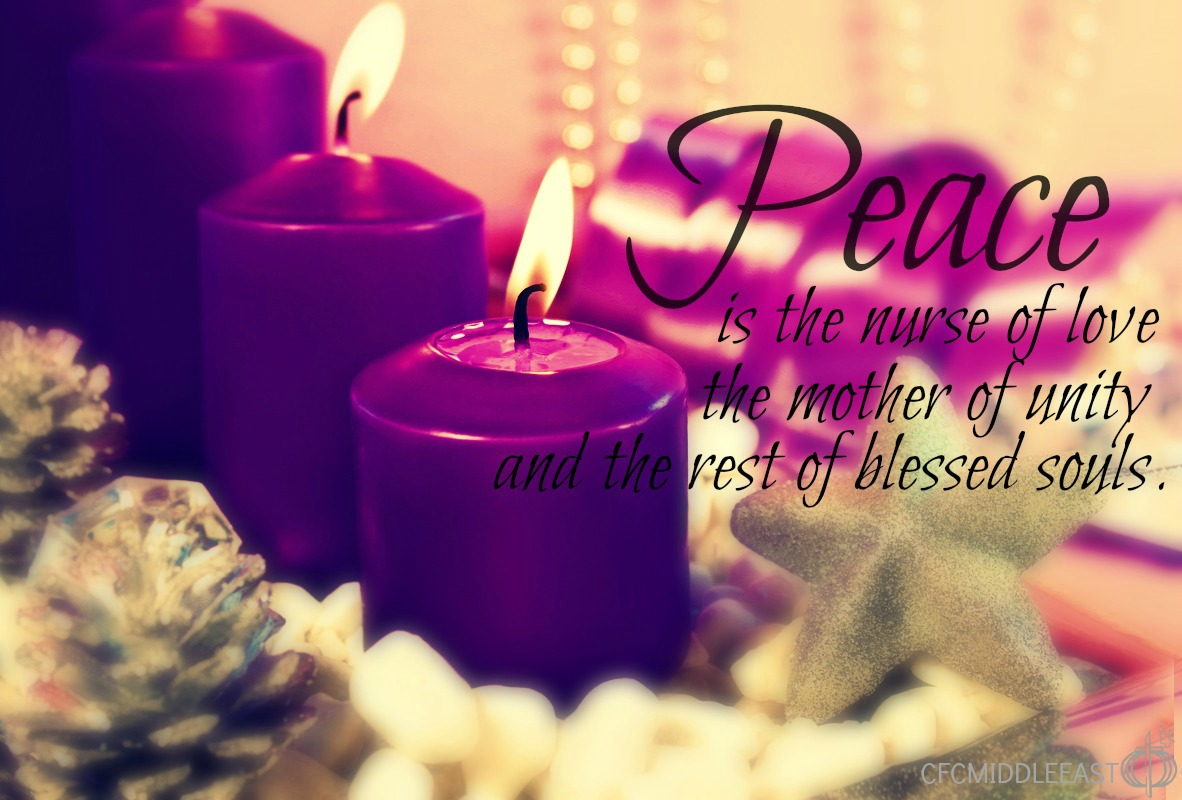 Reflecting on the Second Week of Advent – Candle of Peace