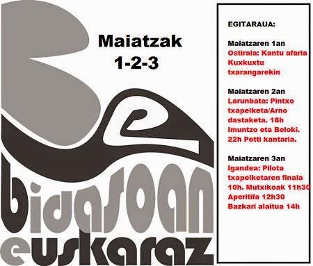 Bidasoan euskaraz Urrugne 2015