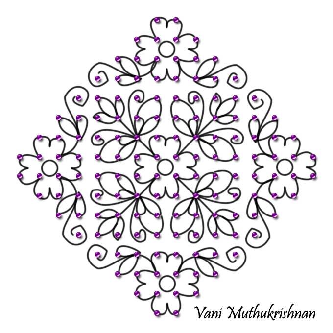My Kolam: Flowers all around