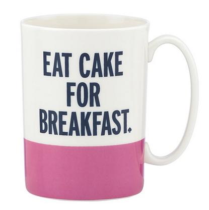 Kate Spade: Eat Cake for Breakfast Mug