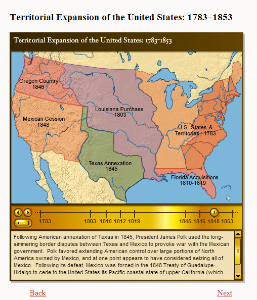 Expansion Of Us Map - Us map 1819