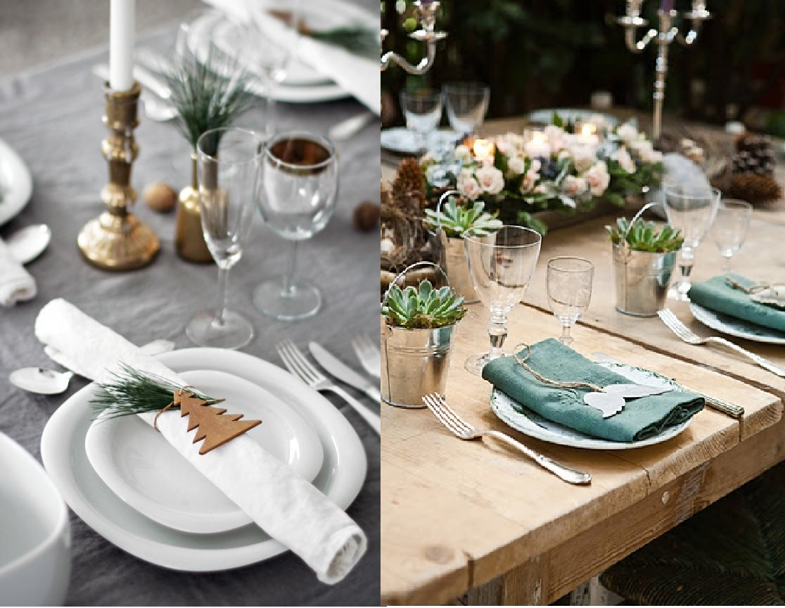 Como decorar la mesa en navidad casas ideas - Como decorar una mesa de navidad ...
