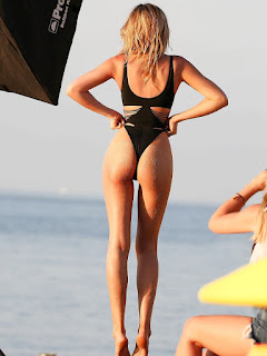 Abbey Clancy black Bikini