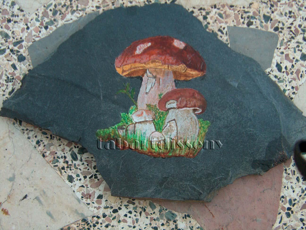 Tabartdisseny pintar piedra de pizarra setas for Pintura para pintar piedras