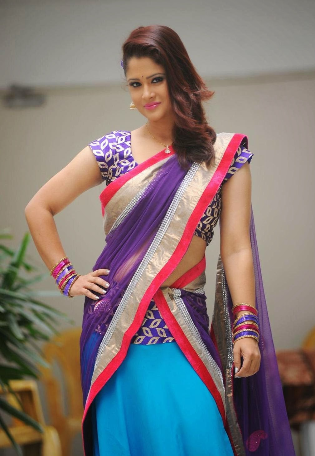 Anchor Shilpa Chakravarth Hot Photos In Half saree,Half Sari photo Stills, S, Shilpa Chakravarth, Shilpa Chakravarth Hot Images, Tv Anchor, HD Actress Gallery, latest Actress HD Photo Gallery, Latest actress Stills, Telugu Movie Actress, Tollywood Actress,