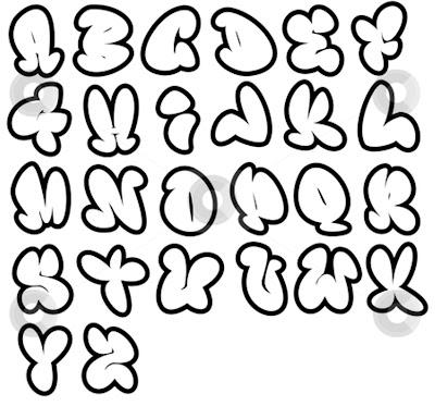 O Alphabet Design Kinds of bubbl