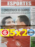 INTER ARRASA NO GRENAL SHOW:5 X 2