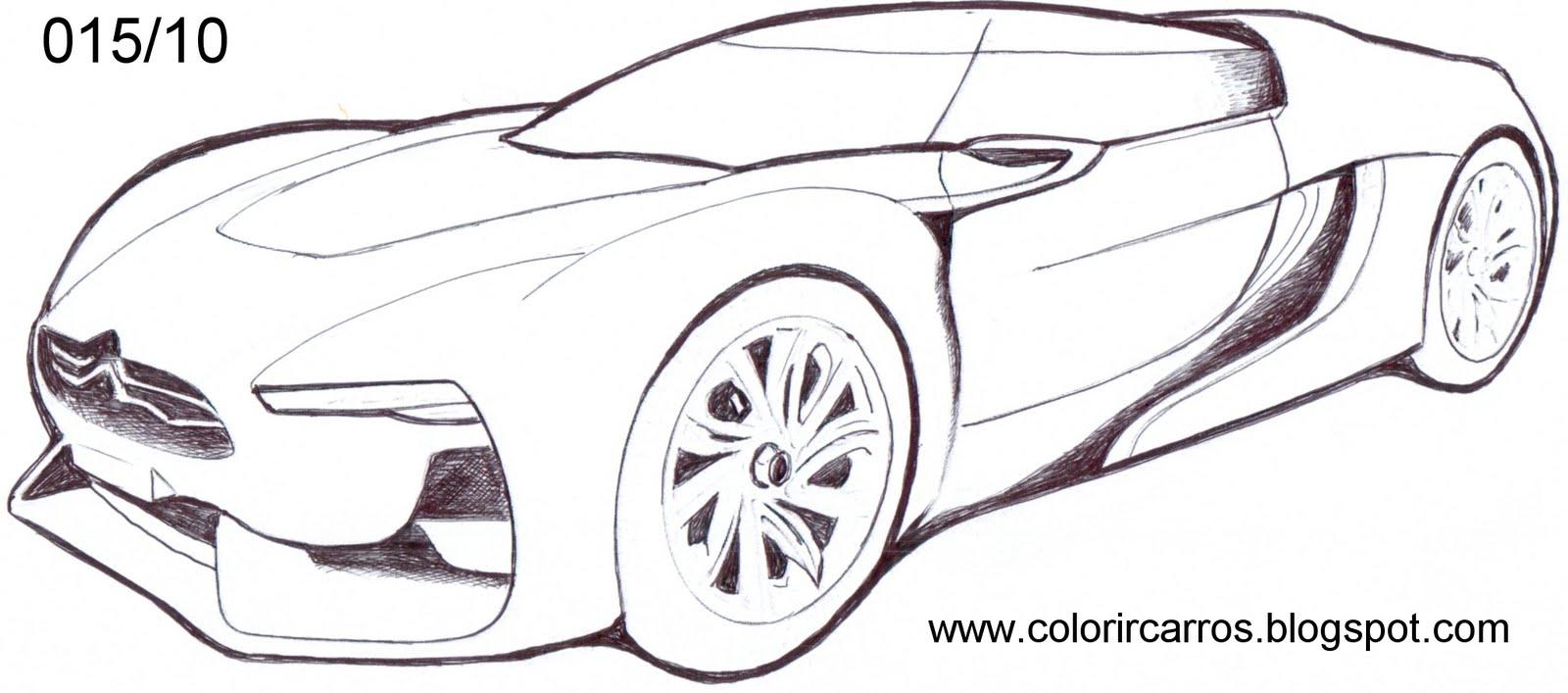 Carros Esportivos Para Colorir Pra Colorir E Rabiscar