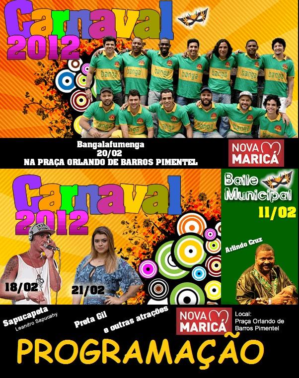 PROGRAMAÇÃO PARA O CARNAVAL 2012