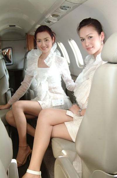 Flight attendant look cute with dressing