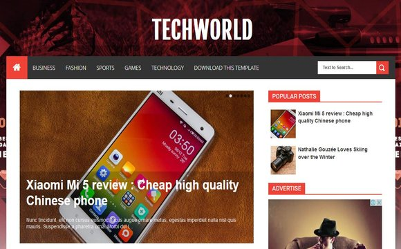 Techworld Blogger Template