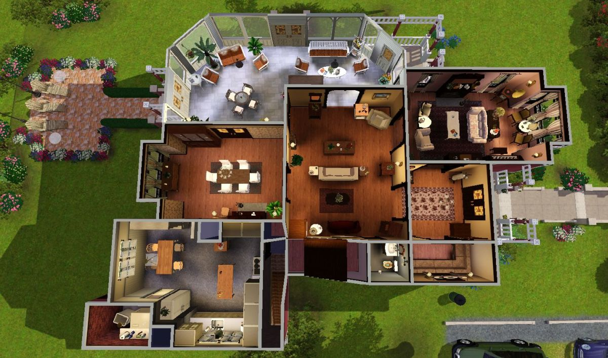 My sims 3 blog halliwell manor by heaven sent 8 18 for Classic house sims 3