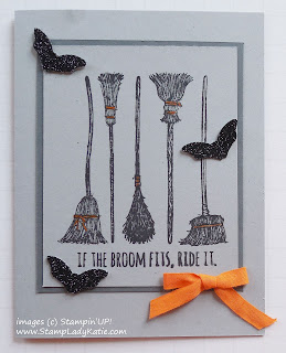 Halloween card made with Stampin'UP!'s If the Broom Fits Stamp Set