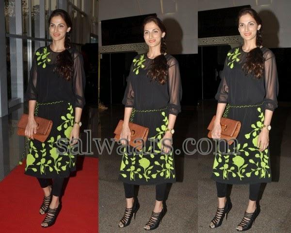 Shilpa Reddy Black Latest Churidar