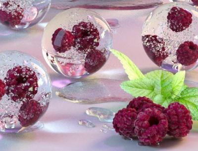 Raspberry Ice Balls