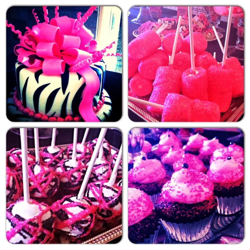 Pink, Black, White, Zebra Glitter Girly Party! The Cutest Candy ...