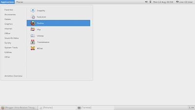 openSUSE 13.1 Milestone 4, GNOME live ISO Main Menu