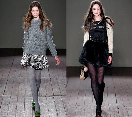 Outfit falda con pantimedias - YouTube