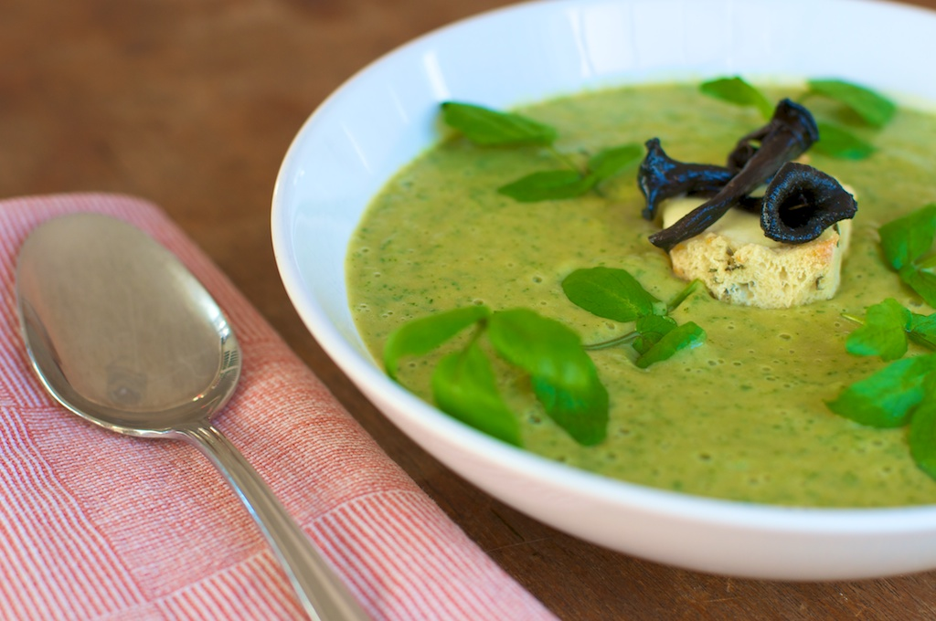 Fat of the Land: Puree of Parsnip & Watercress Soup