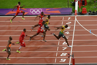 Usain Bolt finished 100m with Olympic Record(9.63) E-Lankanews