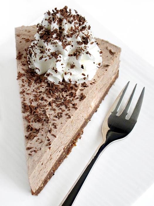 No-bake banana chocolate cheesecake recipe tinascookings.blogspot.com