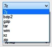 7-Zip formatos para compactar