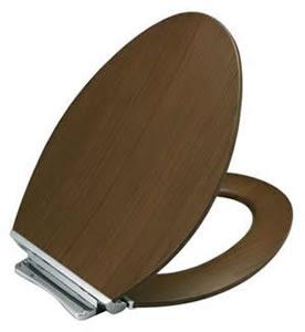 Kohler K-4761-CP Avantis Quiet-Close Elongated Toilet Seat With Quick-Release Polished Chrome Metal Hinges
