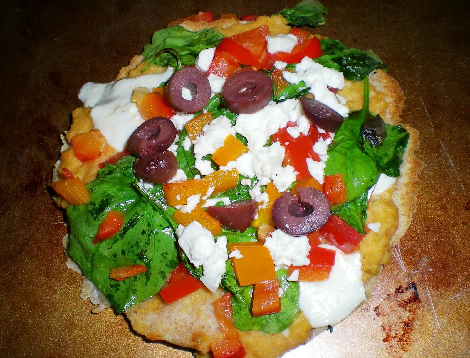 Greek Pita Pizzas ~ From Anne's Kitchen