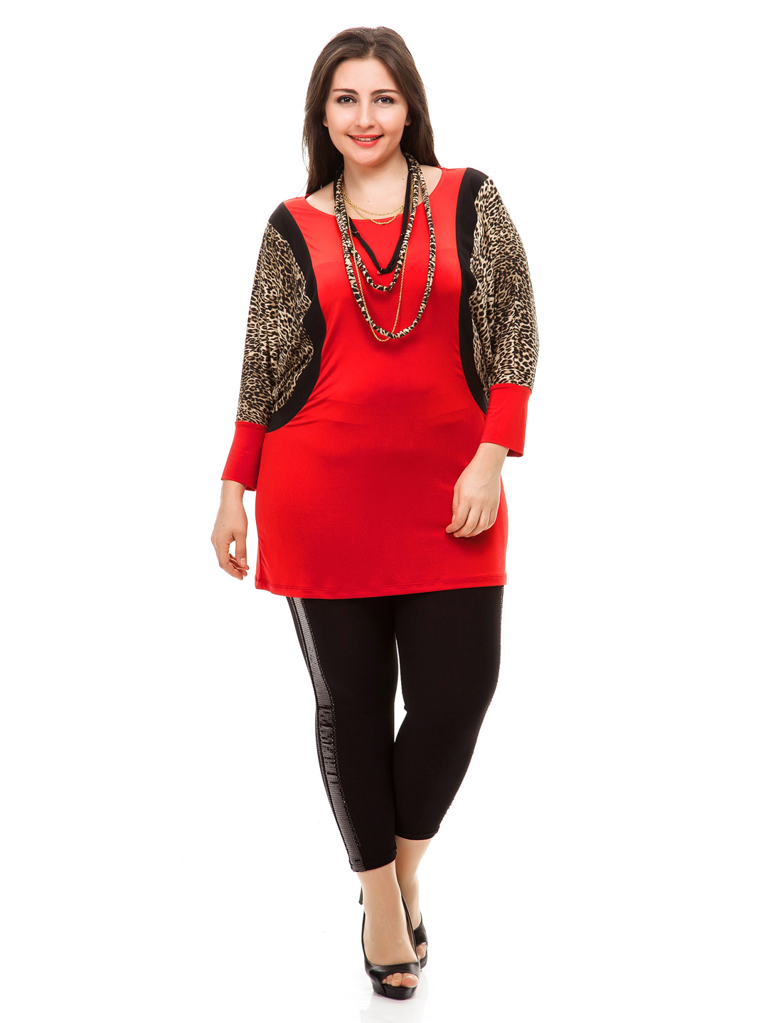 plus size v neck formal clothes