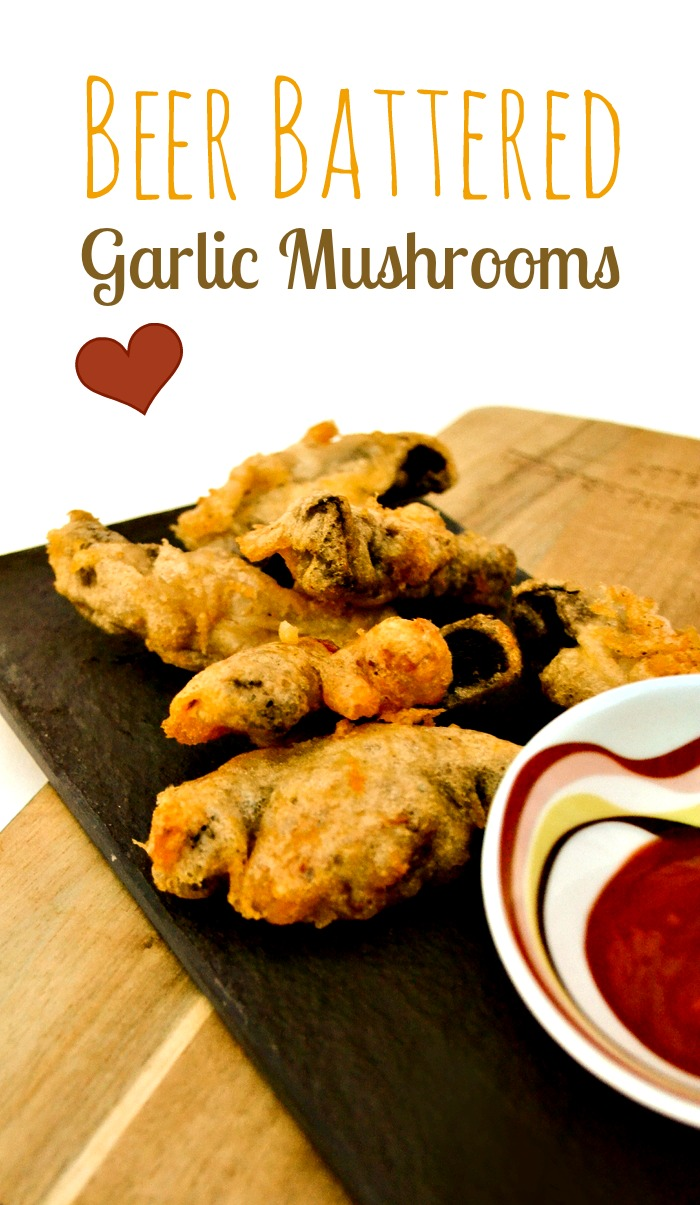 An easy recipe for beer battered garlic mushrooms. These are made in minutes and utterly delicious. Suitable for vegetarians and vegans.