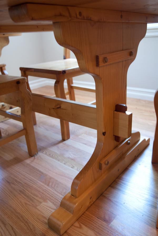 Heygreenie handmade pine kitchen table for Handmade kitchen table