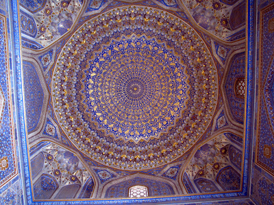 Uzbekistán, Samarcanda - madrasa Tilla Kari