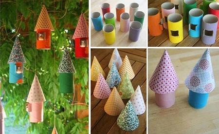Ideas para reciclar tubos de papel higienico - Decoracion con carton de papel higienico ...