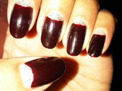 Francia uñas de diseño Medialuna