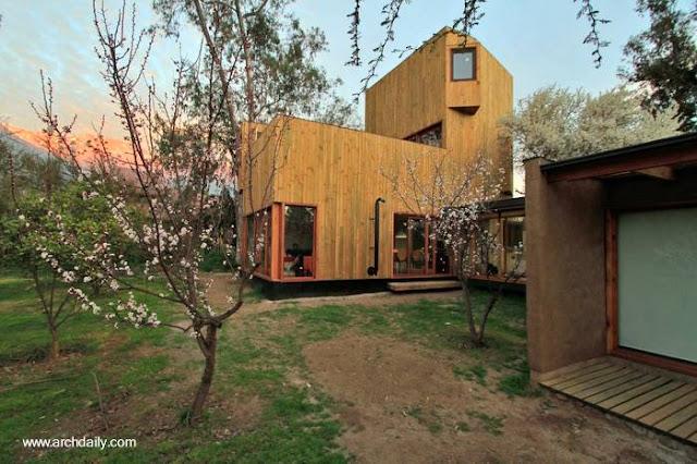 Vivienda de madera contemporánea en Chile