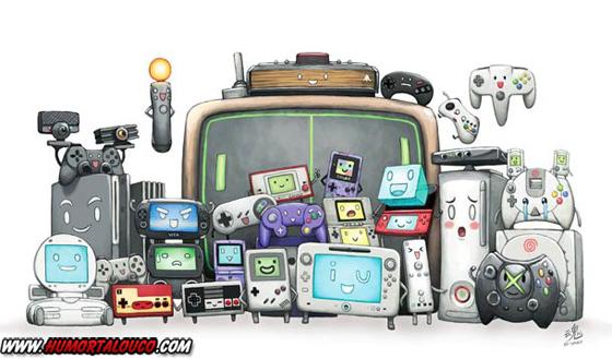 18 animações do mundo dos vídeos games e desenhos - Todos os Consoles de vídeo Game
