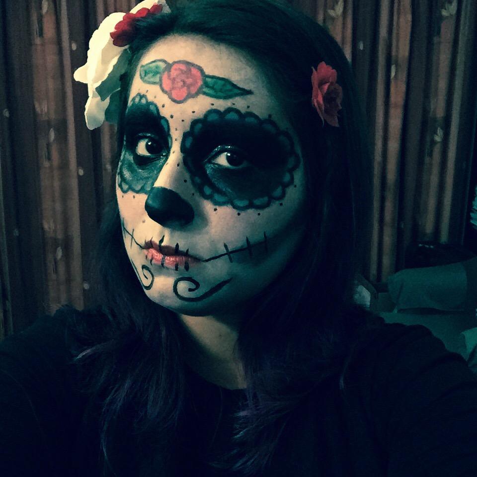 maquiagem caveira mexicana