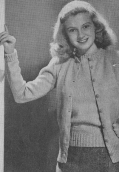 The Vintage Pattern Files: 1940s Knitting - Twin Sweater Set
