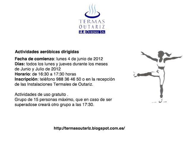 Actividades aeróbicas dirigidas (junio y julio 2012)
