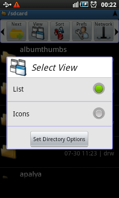 Android File Manager - Views