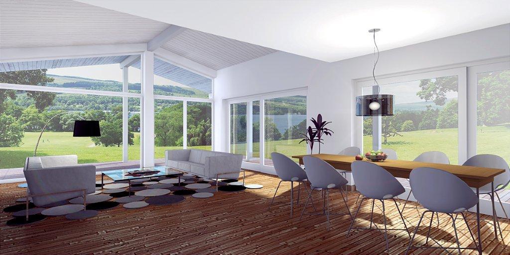 Contemporary house plans narrow contemporary house design for Concept home com