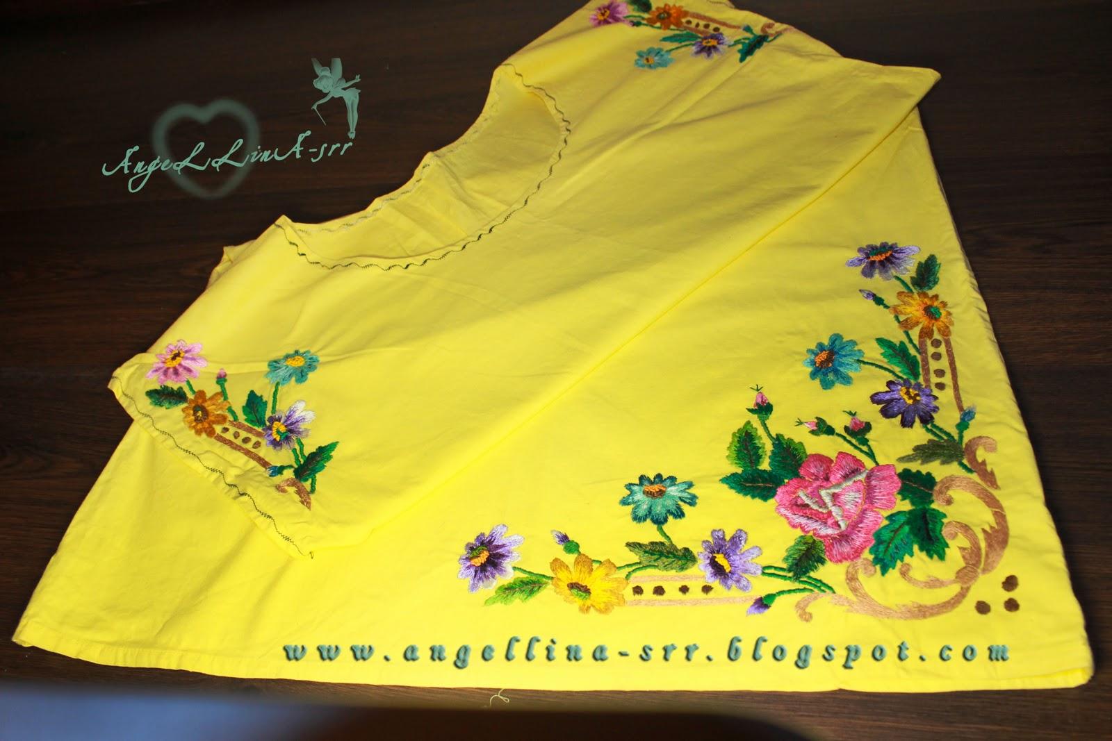 Вышивка ночной сорочки 62