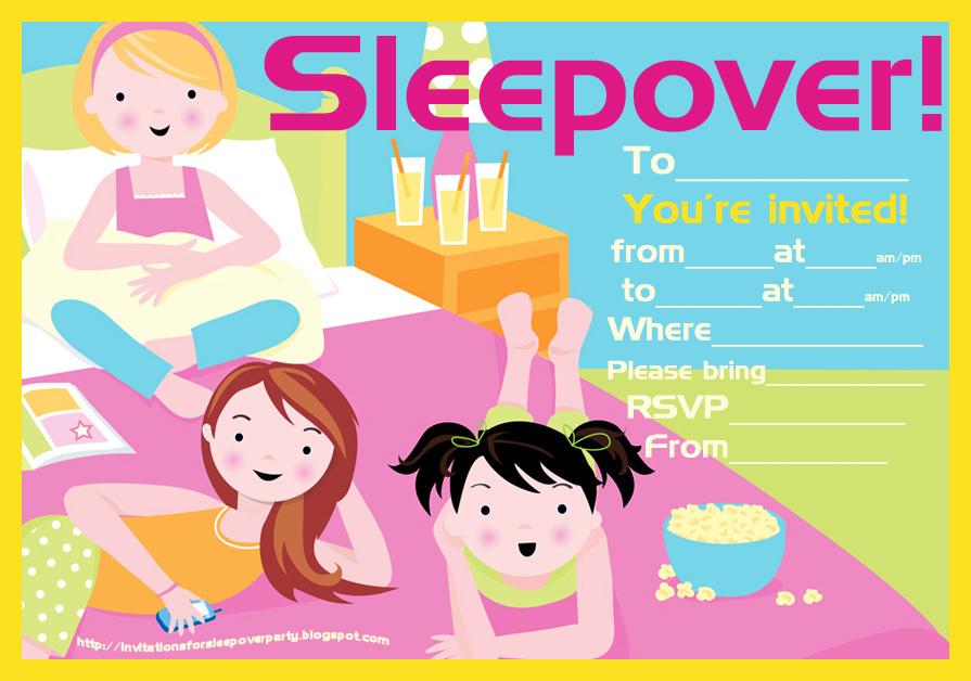 Cute Sleepover Invitations as nice invitations sample