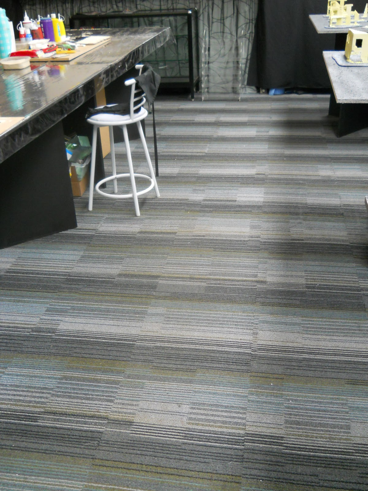 secondhand carpet tiles u002639uber coolu002639 layed in customeru002639s shed home office conversion tile design ideas modern - Carpet Tile Design Ideas