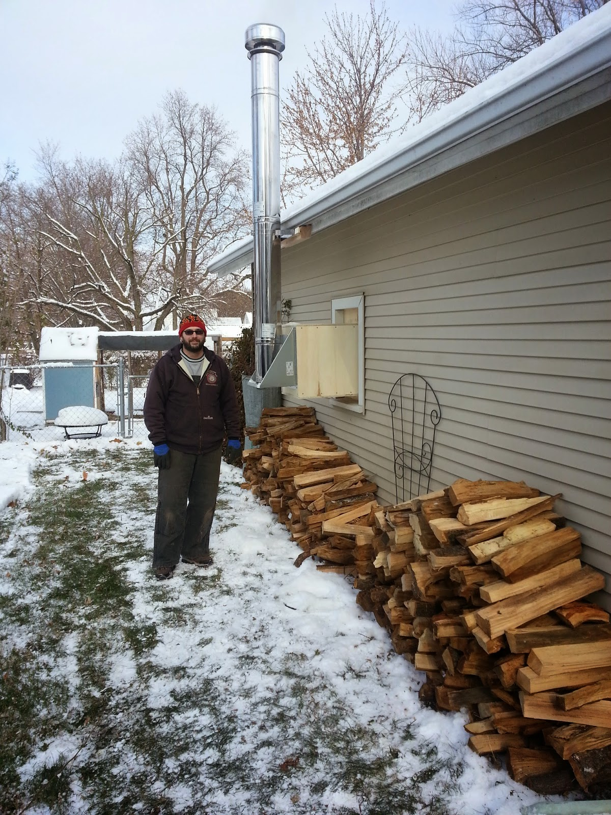If you are, however, looking for instructions on how to install a wood stove  in your garage, John said he recommends good ol' Google. - The Sustainable Couple: Finally Installing A Garage Wood Stove.