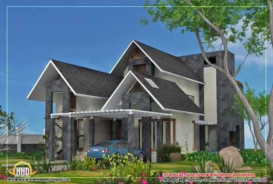 contemporary home - 4700 Sq.Ft.(437 Sq. M.)(522square yards) - February 2012