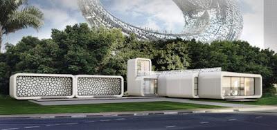 primer edificio impreso en 3D del mundo en Dubái