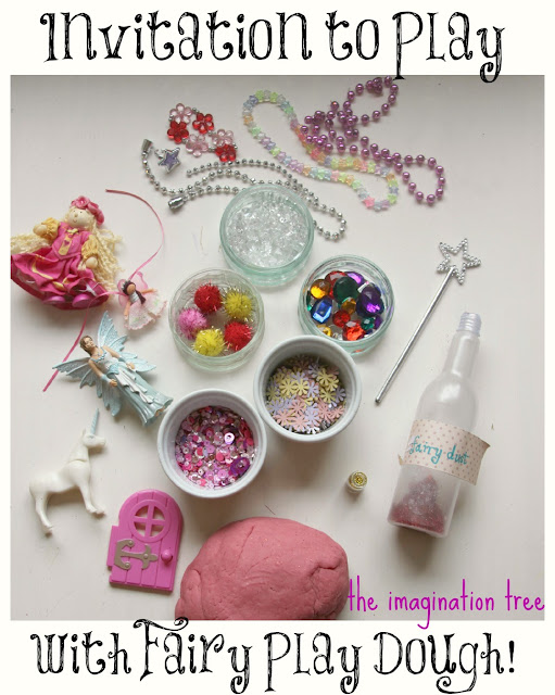 fairy princess pink sparkle play dough play