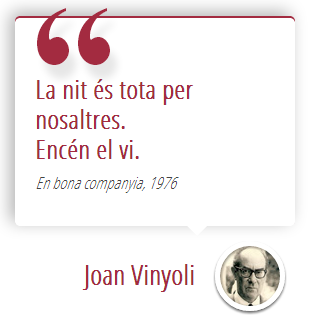 Ruta literaria por Joan Vinyoli